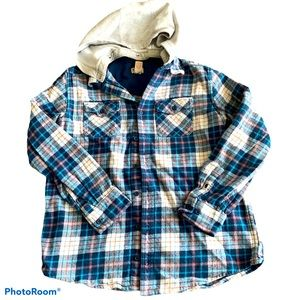 Mossimo Hooded Flannel Jacket Youth XL